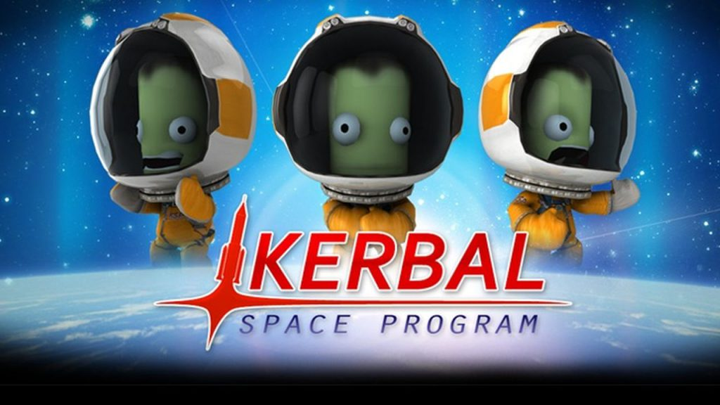 Picture showing Kerbal Space Progam main page or loading screen.