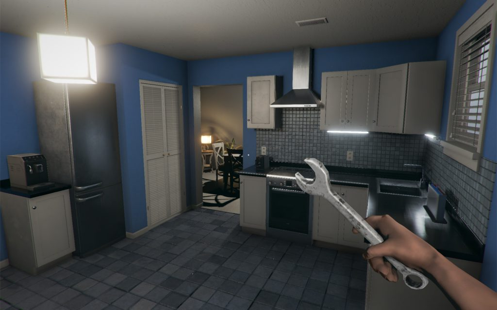 Screenshot showing the gameplay of House Flipper.