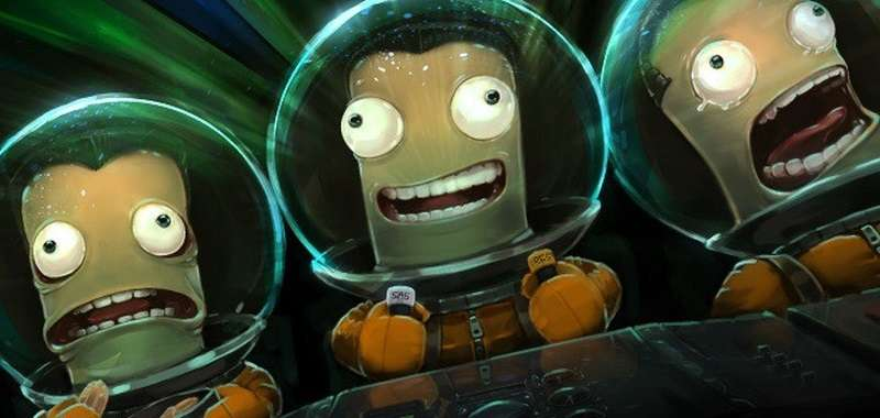 Picture showing travelling kerbals in Kerbal Space Program.